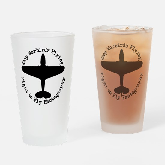 Nwe Fight to Fly Logo Drinking Glass