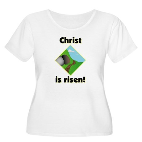 Christ is Risen Women's Plus Size Scoop Neck T-Shi