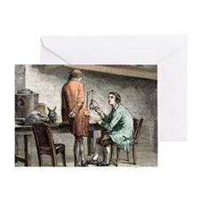 Halle and von Humboldt, Paris 1798 Greeting Card