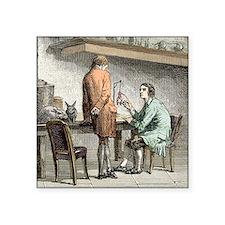 """Halle and von Humboldt, Par Square Sticker 3"""" x 3"""""""