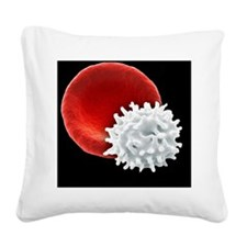 Healthy and crenated red bloo Square Canvas Pillow