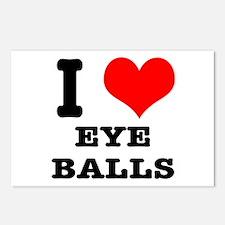 I Heart (Love) Eyeballs Postcards (Package of 8)