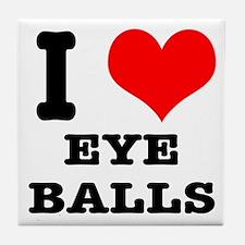 I Heart (Love) Eyeballs Tile Coaster