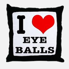I Heart (Love) Eyeballs Throw Pillow
