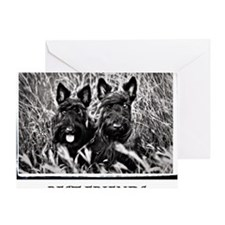 Best Friends - Scottie Dogs #2 Greeting Card
