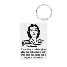Defenseless Lady Funny T-S Keychains