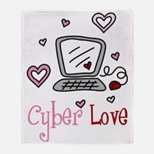 Cyber Love Throw Blanket