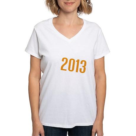 American Discovery 2013 Log Women's V-Neck T-Shirt