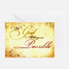 with god gold vintage Greeting Card