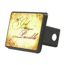 with god gold vintage Hitch Cover