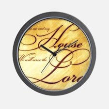 As for me and my house Vintage Wall Clock