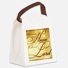 As for me and my house Vintage Canvas Lunch Bag