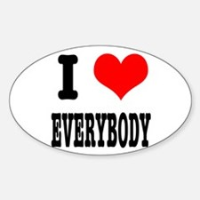 I Heart (Love) Everybody Oval Decal