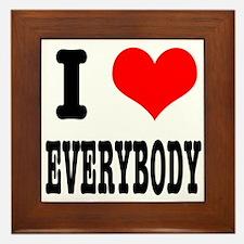 I Heart (Love) Everybody Framed Tile
