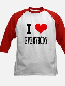 I Heart (Love) Everybody Kids Baseball Jersey