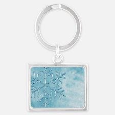 glass snowflake Landscape Keychain