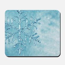 glass snowflake Mousepad