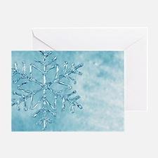 glass snowflake Greeting Card