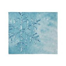 glass snowflake Throw Blanket