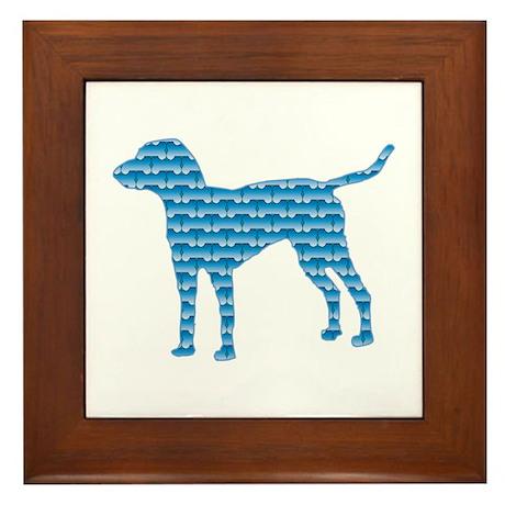 Bone Bleu Framed Tile
