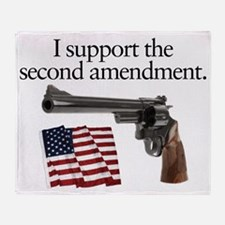 Support the second amendment Throw Blanket