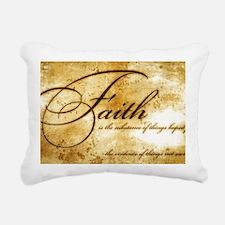 faith is gold vintage Rectangular Canvas Pillow