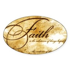 faith is gold vintage Decal