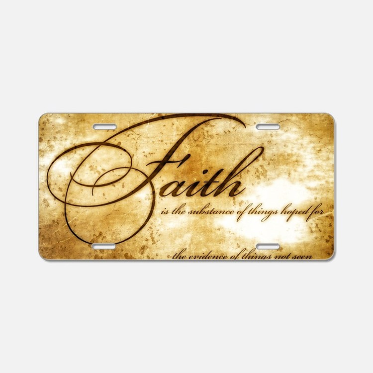 faith is gold vintage Aluminum License Plate