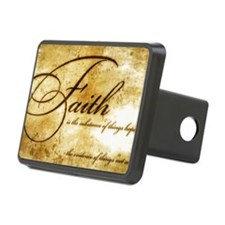 faith is gold vintage Hitch Cover