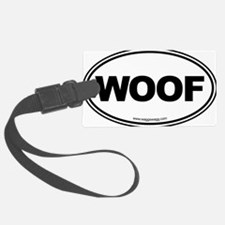 WOOF! Black Luggage Tag