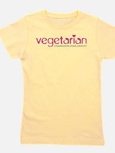 Vegetarian - Compassion Over Cruelty Girl's Tee