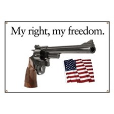 Second amendment my right my freedom Banner