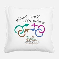 Plays Well with Others 10x10  Square Canvas Pillow
