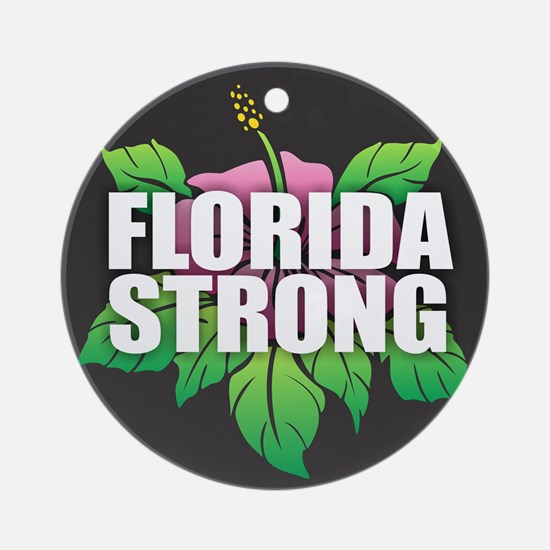 Florida Strong Round Ornament