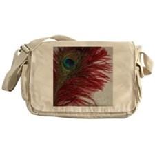 Peacock with Red Messenger Bag
