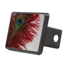 Peacock with Red Hitch Cover