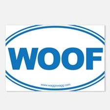 WOOF! Blue Postcards (Package of 8)