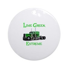 Lime Green Extreme Ornament (Round)