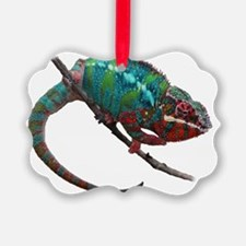 red and blue panther chameleon Ornament