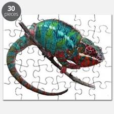 red and blue panther chameleon Puzzle