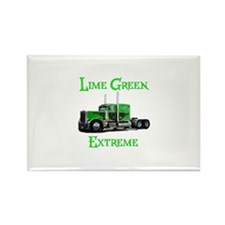Lime Green Extreme Rectangle Magnet