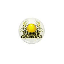 Tennis Grandpa (cross) Mini Button