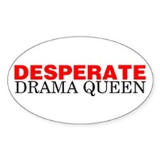 Desperate Drama Queen Oval Decal
