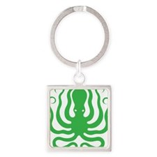 A cool octopus graphic tee t-shirt Square Keychain