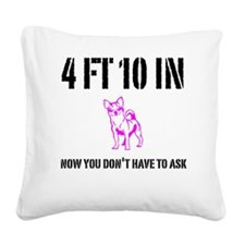 Funny Short Square Canvas Pillow
