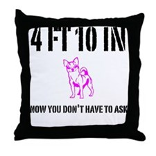 Funny Short Throw Pillow