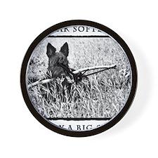 Terrier Attitude BW Wall Clock