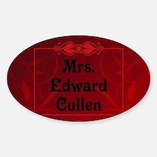 Mrs. Edward Cullen Pillow Case Sticker (Oval)