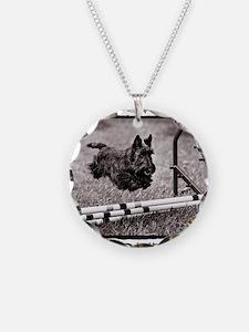 Jump - Agility Scottie Dog Necklace