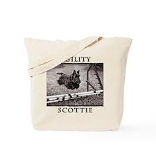 Jump - Agility Scottie Dog Tote Bag